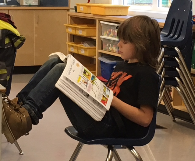 Tansor Elementary student reading