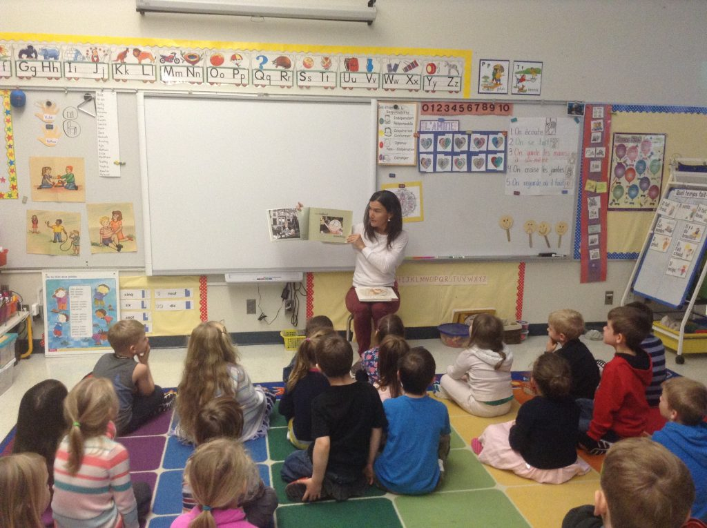 Reading at Ecole Cobble Hill