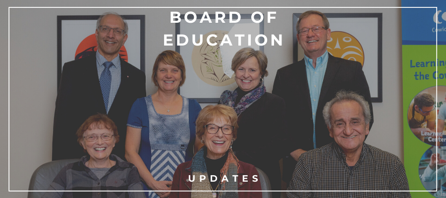 Board of Education Updates