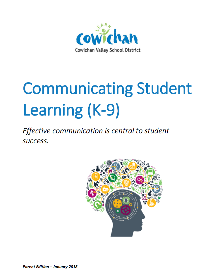 communicating student learning guide for parents cowichan valley